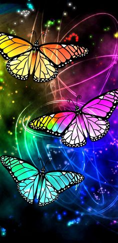 Butterfly Ringtones and Wallpapers - Free by ZEDGE™ Blue Butterfly Wallpaper, Butterfly Background, Colorful Wallpaper, Flower Wallpaper, Wallpaper Backgrounds, Butterfly Drawing, Butterfly Painting, Butterfly Crafts, Rainbow Butterfly