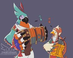 breath of the wild style medli? i think she'd be great friends with kass :D
