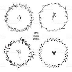 Four Simple Floral Wreaths