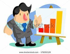 Businessman presenting a line graph by AtomicBHB, via Shutterstock