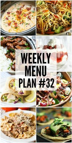 Weekly Menu Plan - a great collection of dinner ideas and sides to help you plan your weekly dinners.