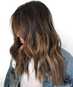 Lovely Dimensional Warm Brown Balayage