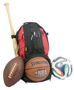 4023dd67fefd K-Cliffs Baseball Backpack Softball Daypack Basketball Volleyball Backpack  Football Soccer Bag w  Ball Storage Helmet Compartment   Bat Holder   Coin  Phone ...