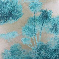 Papier peint - Matthew Williamson - Cocos - Turquoise