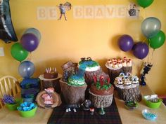 B's Brave party table.
