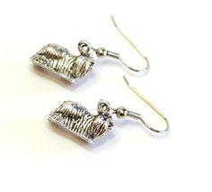 Dog Silver Charm Earrings by SummerWilson8 on Etsy, $2.50
