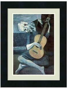 Showcase your love of art with this AZ The Old Guitarist, 1903 print framed wall art by Pablo Picasso. <ul> <li>Satin black frame finish</li> <li>Artist: Pablo Picasso PRODUCT DETAILS</li> <li>16.75''H x 13''W x 0.75''D</li> <li>Wood, acrylic</li> <li>Vertical display</li> <li>Attached hanging wire</li> <li>Wipe clean</li> <li>Model no. DSW2973463</