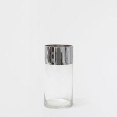 Vaas Zilverkleurige Rand - Vazen - Decoratie | Zara Home Netherlands