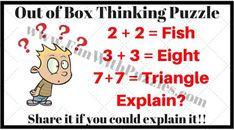 Out of Box Thinking Riddles for Teens with Answers-Brain Teasers Puzzles Riddles You are in the right place about Riddles videos Here we offer you the most beautiful pictures about the detective Riddl Hard Puzzles, Logic Puzzles, Puzzles For Kids, Picture Puzzles Brain Teasers, Brain Teaser Puzzles, Kids Jokes And Riddles, Jokes For Kids, Brain Teasers With Answers, Brain Teasers For Kids