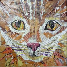 Love this! Collage Your Pet: Making Pictorial Collages that Look Like Paintings at Art and Soul Retreat