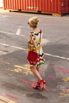 Looks to me like a Hudson Bay Blanket Dress...oohhh...is there such a thing?!