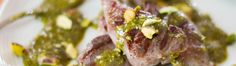 Sous Vide Lamb Chops with Mint-Pistachio Pesto