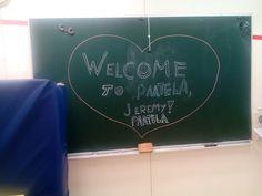 Ilahdutti koulumme oppilaita. Ja tutustui kouluumme🙋!