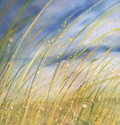 Windy Meadow, oil on canvas, cms. Crashing Waves, Lavender Fields, Colorful Paintings, Painting & Drawing, Oil On Canvas, Sky, French, Fine Art, Gallery