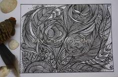 https://flic.kr/p/cvF5pA | Garden of fine lines | 6x8. Ink on Paper.