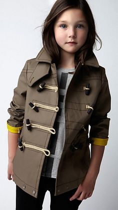 Burberry Duffle Toggle Pea Coat