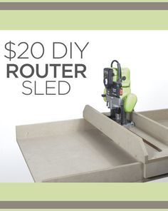 I have a Ridgid thickness planer that is a tank. However I can only plane up to that width and it is unsafe to do anything end grain (in my personal opinion) so I have for a long time wanted to build my own jig. I chose to use MDF wood knowing th Diy Router, Router Sled, Router Jig, Woodworking Workbench, Woodworking Furniture, Woodworking Tools, Router Table, Popular Woodworking, Router Projects