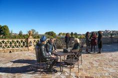 Mirtha, Jorge y Joel charlan en la Terraza del Río