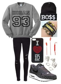 """""""1D Outfit!"""" by aiysha7 ❤ liked on Polyvore featuring мода, Frame Denim, NIKE, Audiology и Forever 21"""