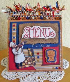 Fat Chef Menu Board....cute!
