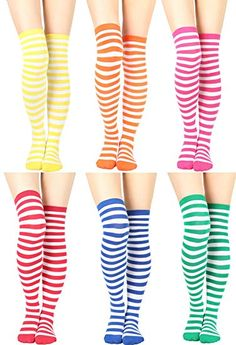 9042af4cf94 Womens Cable Check Stripe Pattern Over The Knee High Socks (One Size   XS  to M