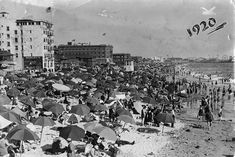 Venice Beach, 1920. Notice Ocean Park in the background on the far right. - I've been going to Venice Beach since the 1960's...Love it!!!