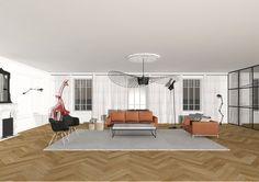 Sacha Goutorbe   Architecte d'intérieur, Appartement Haussmannien, Lyon. Marbre, baie vitrée, Bois, Texture & Caractère.