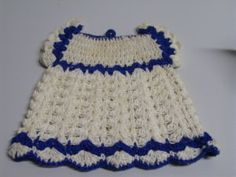 Vintage 40s Dress Hand Crocheted Cotton Pot Holder Kitchen Chic