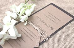 Wood Paper  Rustic Chic Wedding invitation  by TheMemoryTrunk, $3.50