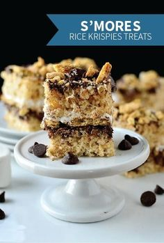 Crispy, ooey-gooey S'Mores Rice Krispie Treats are a fun and festive twist on classic s'mores! It's a quick and easy recipe with tons of delicious chocolate, marshmallow, and graham cracker crumbs!