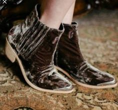 Free People Distressed Velvet Western Barbary Boot Sz 41 Rare Cowboy Brown | Clothing, Shoes & Accessories, Women's Shoes, Boots | eBay!