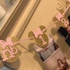 Minnie Mouse 12 Month Photo BannerFirst Year Minnie Mouse | Etsy Minnie Mouse Games, Minnie Mouse Decorations, First Birthday Decorations, Minnie Mouse Pink, Happy Birthday Banners, Pink Gold Birthday, Gold First Birthday, Gold Birthday Party, Minnie Mouse Birthday Outfit