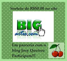 Sorteio no blog da Josy eu estou participando , e voce? participe.  http://josyfazendoarte.blogspot.com.br/2012/06/sorteio-em-parceira-bi...