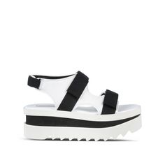 90225f485dc Shop the Black Velcro Wedge Sandal by Stella Mccartney at the official  online store. Discover