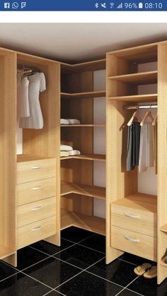 44 ideas for small closet corner walk in Bedroom Cupboard Designs, Wardrobe Design Bedroom, Bedroom Cupboards, Master Bedroom Closet, Bedroom Bed Design, Corner Wardrobe, Wardrobe Closet, Corner Closet Organizer, Dressing Room Closet