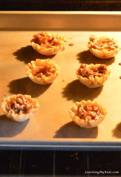 Baking Fun For Kids: Mini Pecan Phyllo Cups Phyllo Cups, Pantry Essentials, Fall Baking, Grubs, Kitchen Aid Mixer, Pecan, Baked Goods, Yummy Treats, Cool Kids