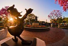 sunrise at Disneyland