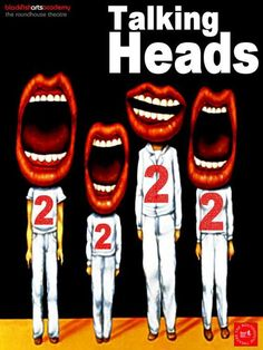 Most popular tags for this image include: talking heads