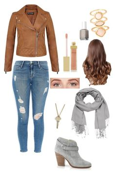 """""""Fall"""" by sydneym13-1 ❤ liked on Polyvore featuring Miss Selfridge, Frame Denim, rag & bone, maurices, The Giving Keys, Benefit, AERIN, Essie and Monsoon"""