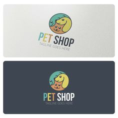 Logo Template suitable for pet shop, pet food, veterinary, pet clinic, pet care products and similar businesses.