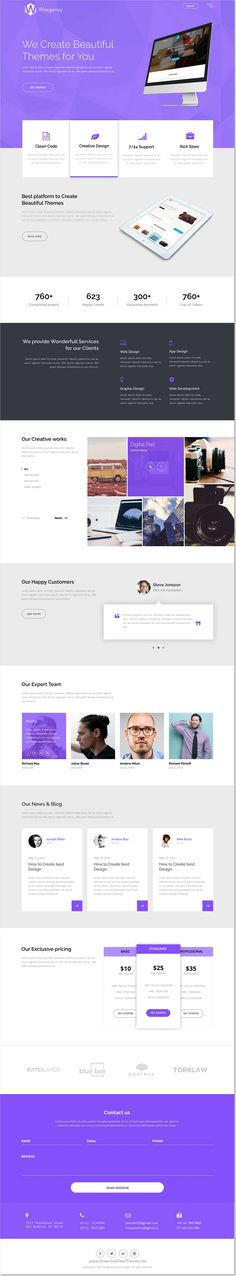 Wregency is a creative modern and clean #Photoshop #template for multipurpose one page website download now➩ https://themeforest.net/item/wregency-multipurpose-one-page-psd-template/17222256?ref=Datasata