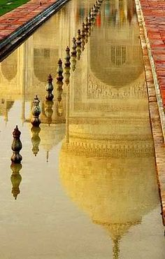 Reflection, Taj Majal, Agra, India. Beautiful.