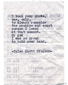 Typewriter Series #1002byTyler Knott Gregson *It's official, my book,Chasers of the Light,is out! You can order it throughAmazon,Barnes and Noble,IndieBound,Books-A-Million,Paper SourceorAnthropologie*