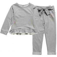 Little Marc Jacobs Girls Grey Tracksuit at Childrensalon.com