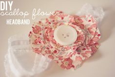 scallop flower headband
