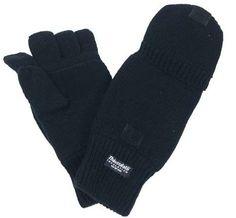 MFH Strick-Handschuhe, ohne Finger, schwarz / mehr Infos auf: www.Guntia-Militaria-Shop.de