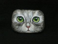 Rockpainting - Cat 0007..How sweet is this?!