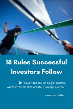 #Investing is not easy - every successful #investor has a strategy and rules they follow in order to try to minimize the risks and maximize the profits. Here are some rules to follow, based on the advice from Warren Buffett and Steve Anderson (Baseline Ventures). #vc #investinstartups