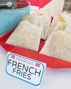 Drive In Party - DIY Route66 French Fry Pouch