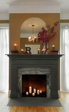 farmhouse fireplace - Google Search